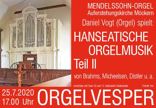 Hanseatische Orgelmusik