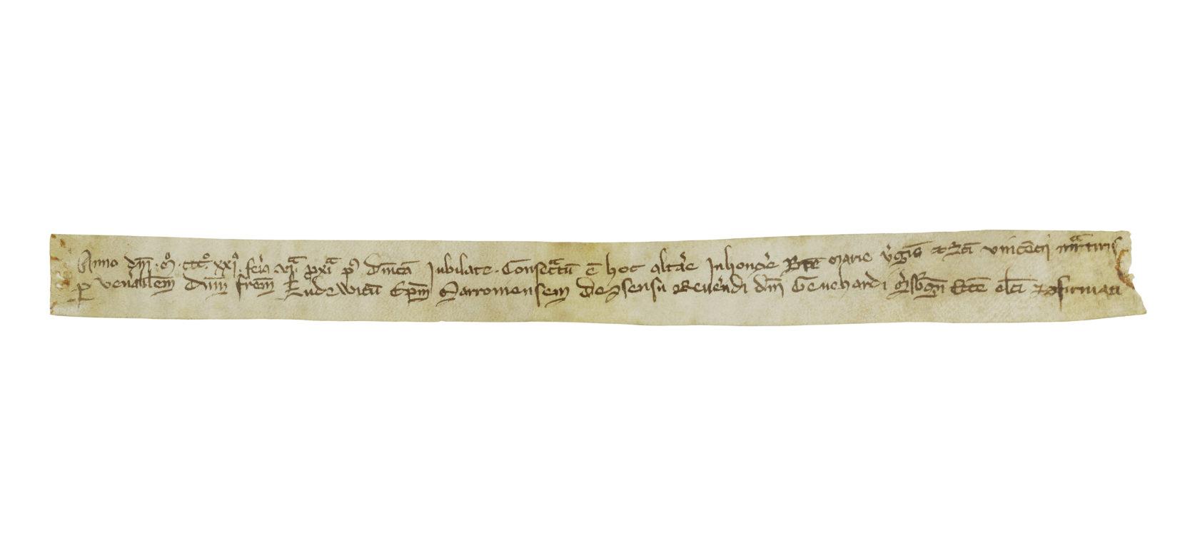 Die Altarweihe am 15. Mai 1321